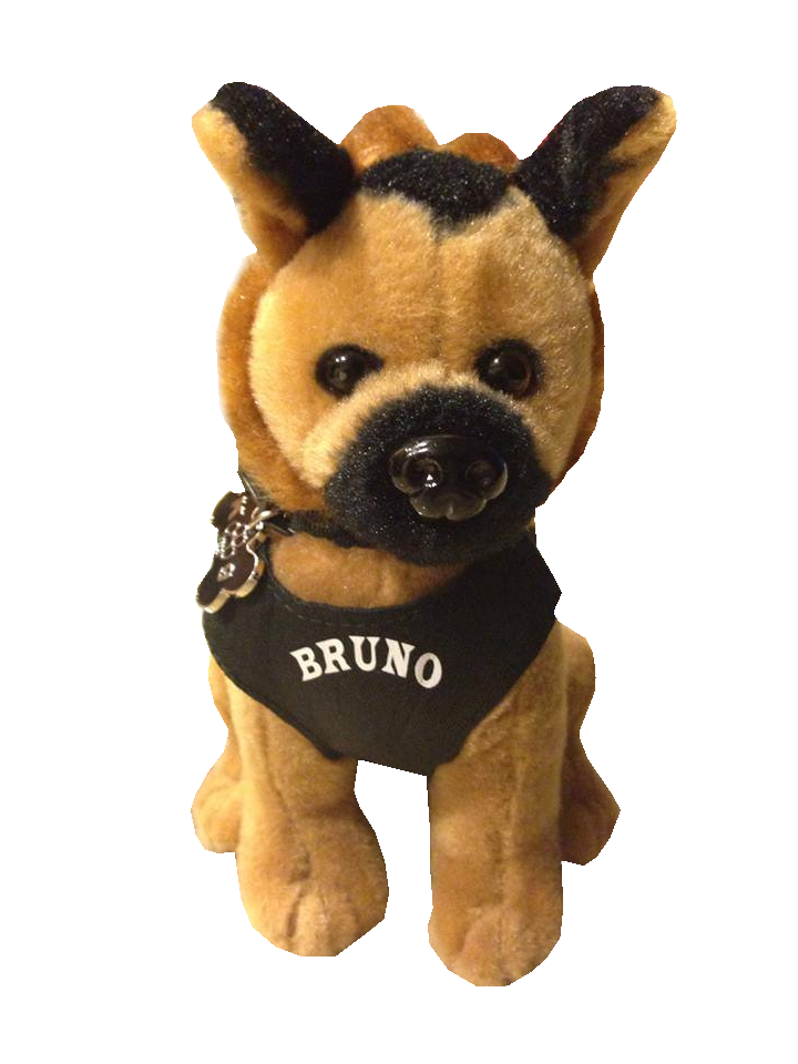 Bruno Stuffed Dog Friends Of Anaheim Police K9 Association